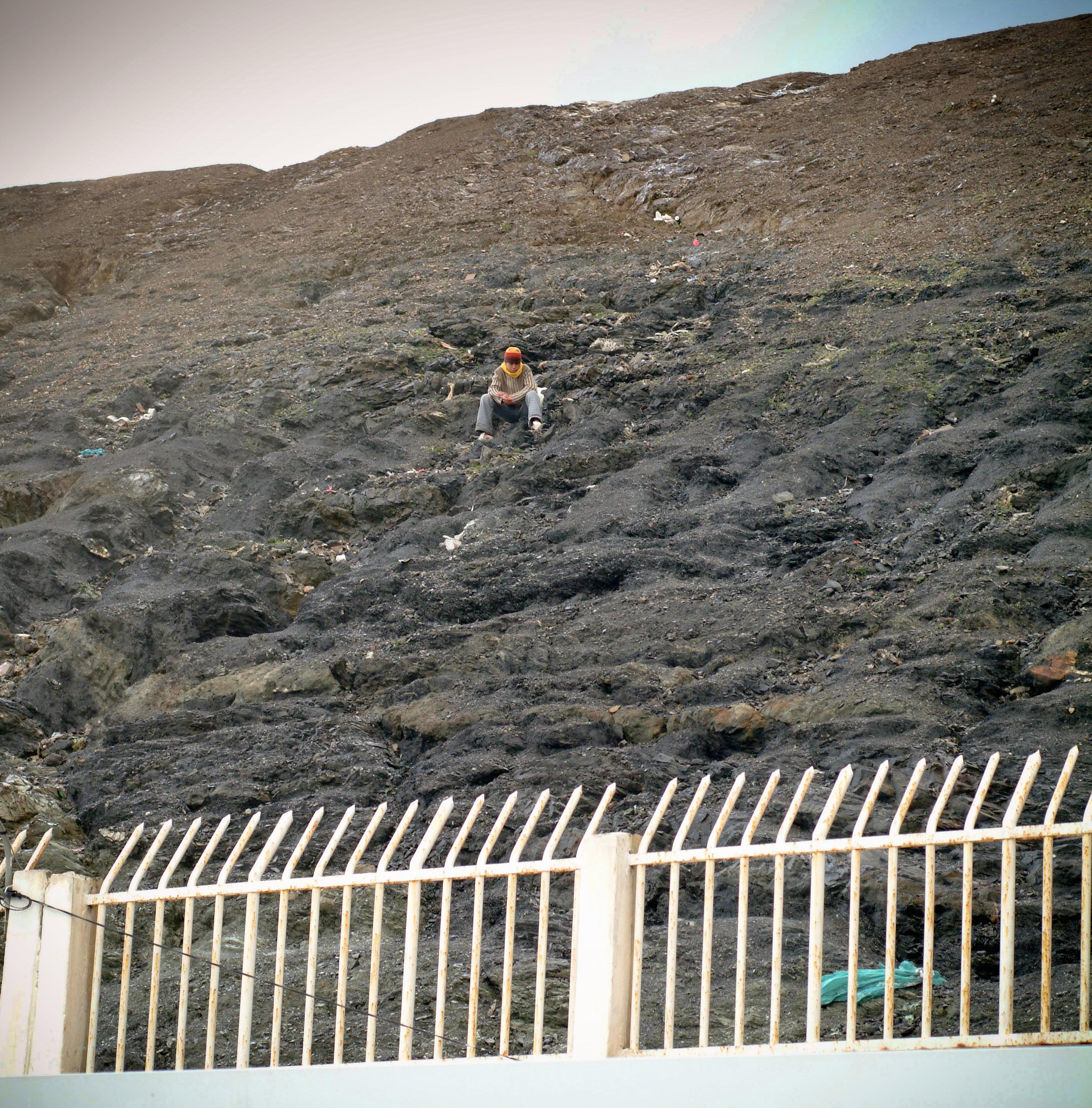 La frontière entre l'enclave espagnole Ceuta et le