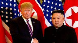 도널드 트럼프와 김정은이 8개월 만에