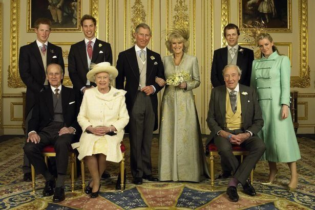 Laura Lopes (rechts) auf der Hochzeit von Herzogin Camilla und Prinz Charles.