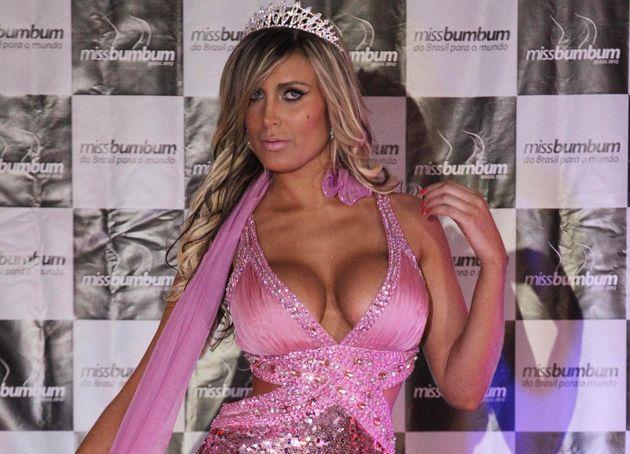 Andressa Urach em 2002, quando levou o segundo lugar no concurso de Miss