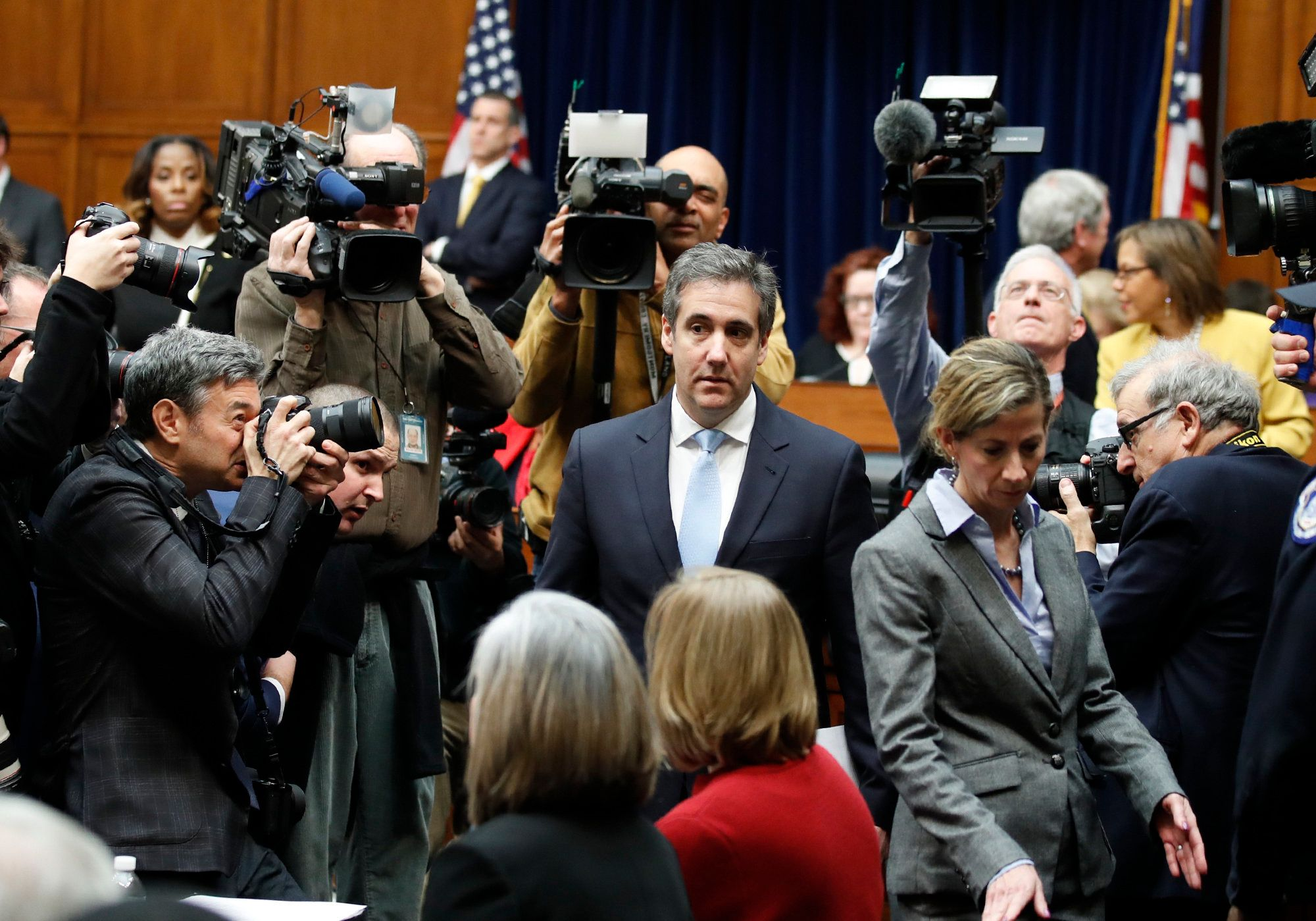 Michael Cohen, President Donald Trump's former personal lawyer, arrives to testify before the House Oversight and Reform Committee on Capitol Hill, Wednesday, Feb. 27, 2019, in Washington. (AP Photo/Alex Brandon)