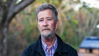 Leslie McCrae Dowless outside of his home in Bladenboro, N.C., on December 5, 2018. (Travis Long/Raleigh News & Observer/TNS via Getty Images)