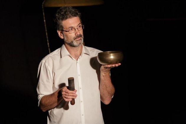 Ο δρ Παιδαγωγικής, συγγραφέας και πιο γνωστός Έλληνας αφηγητής -ιστορητής, Στέλιος Πελασγός. Φωτογραφία: Εργαστήρι Μαιρηβή.