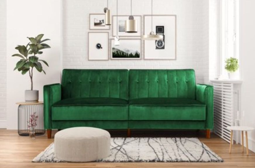 big sale 12dd2 5e94c Where To Buy An Emerald Green Couch On Any Budget | HuffPost ...