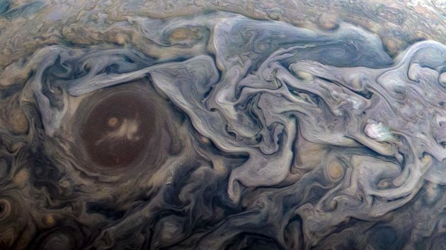 An image of Jupiter captured by the Juno spacecraft on Feb. 12. NASA software engineer Kevin M....