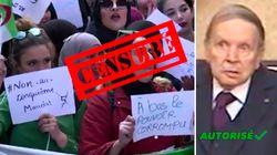 Manifestations en Algérie: La télé officielle en parle enfin... d'une drôle de