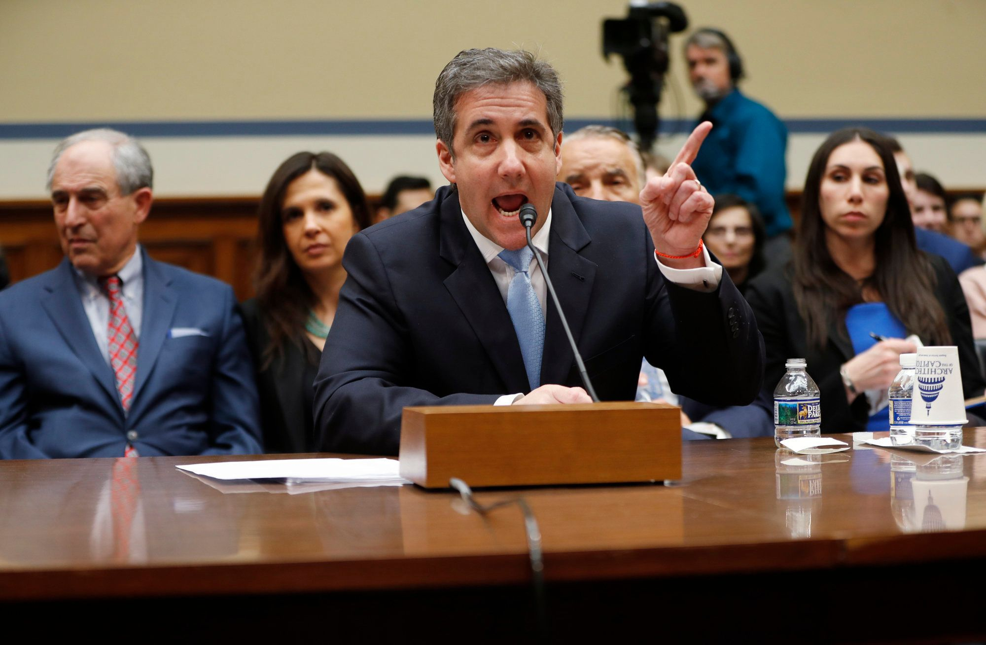 Michael Cohen, President Donald Trump's former personal lawyer, testifies before the House Oversight and Reform Committee on Capitol Hill in Washington, Wednesday, Feb. 27, 2019. (AP Photo/Pablo Martinez Monsivais)