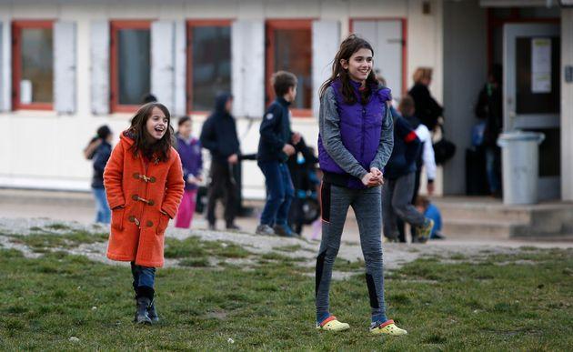Kinder in einem Flüchtlingsheim in