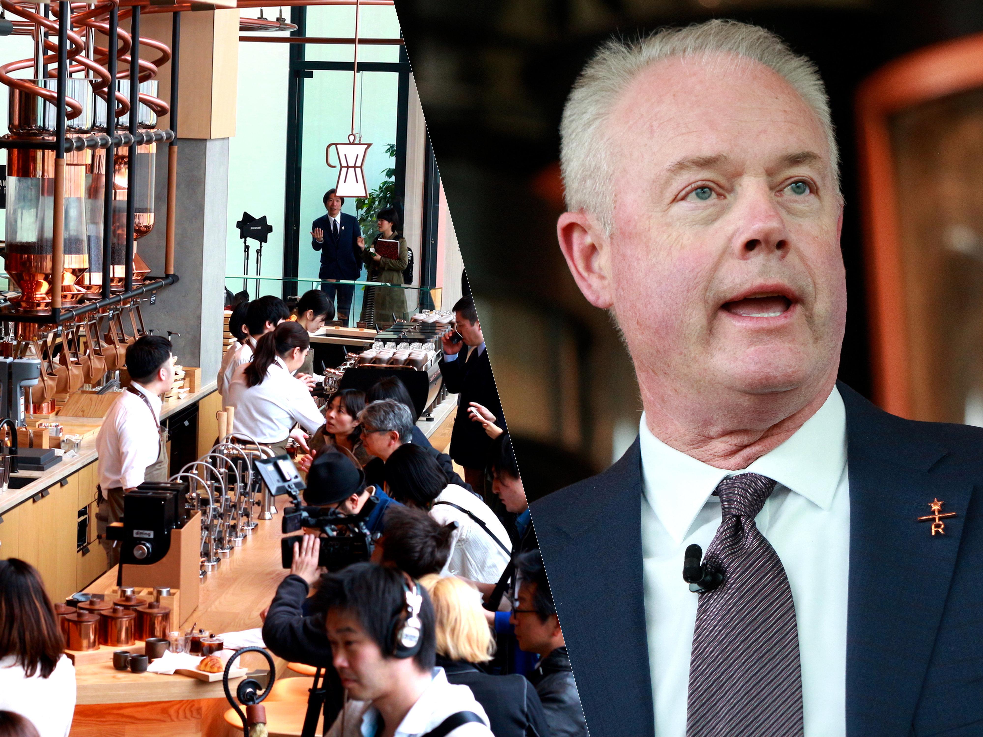 スターバックス リザーブ ロースタリー東京 / 米スターバックスのケヴィン・ジョンソン氏