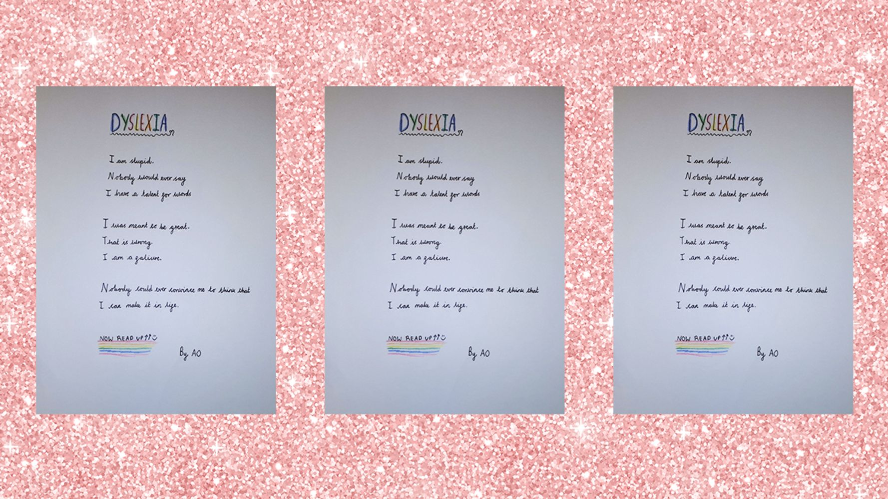 Everyone Is Stunned By This Dyslexia Poem Written By A 10-Year-Old