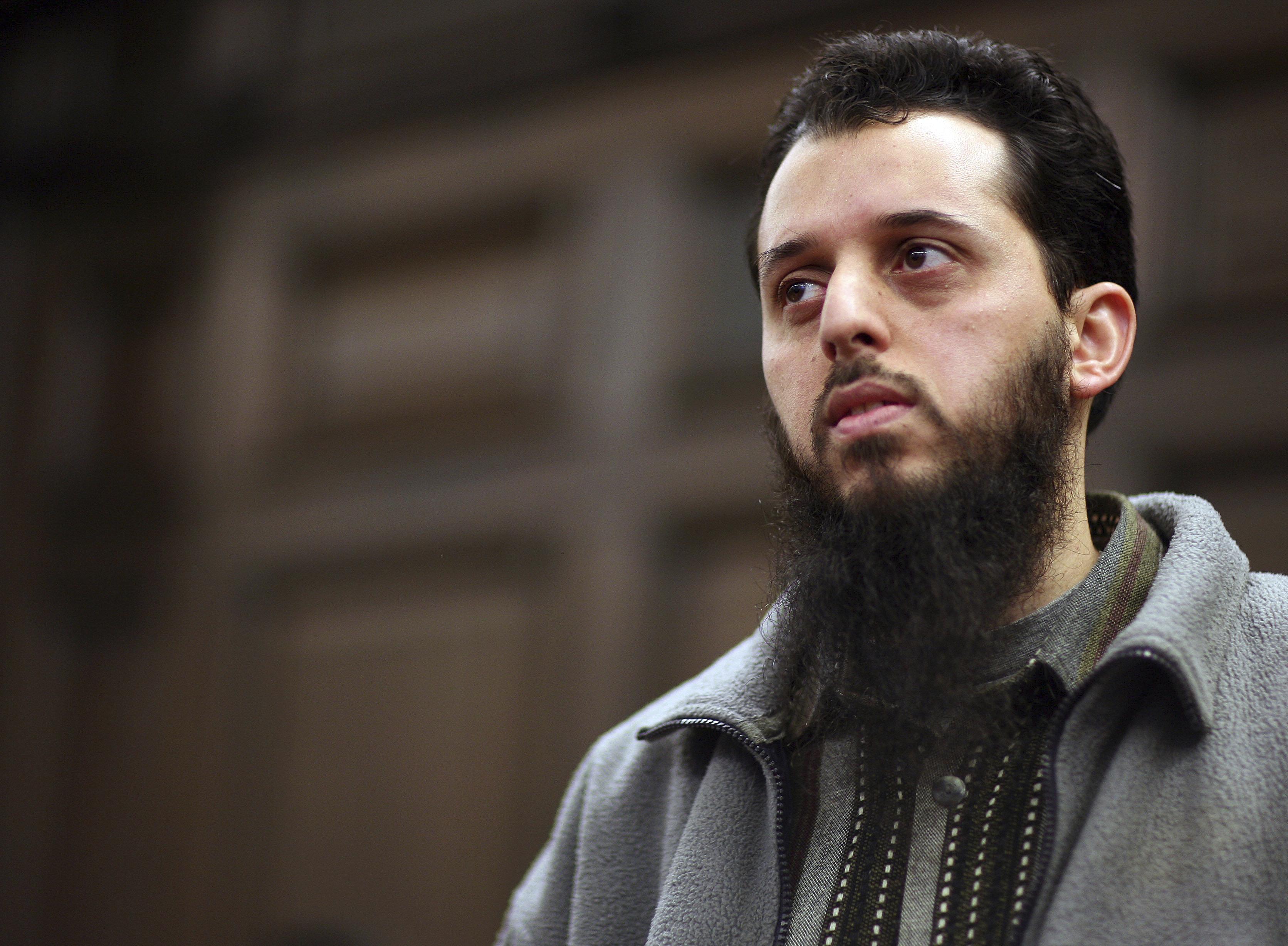 Le MarocainMounir el-Motassadeq lors de son procès en 2007 à Hambourg