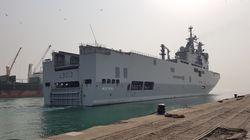 Le porte-hélicoptères amphibie Mistral de la marine française va faire escale à