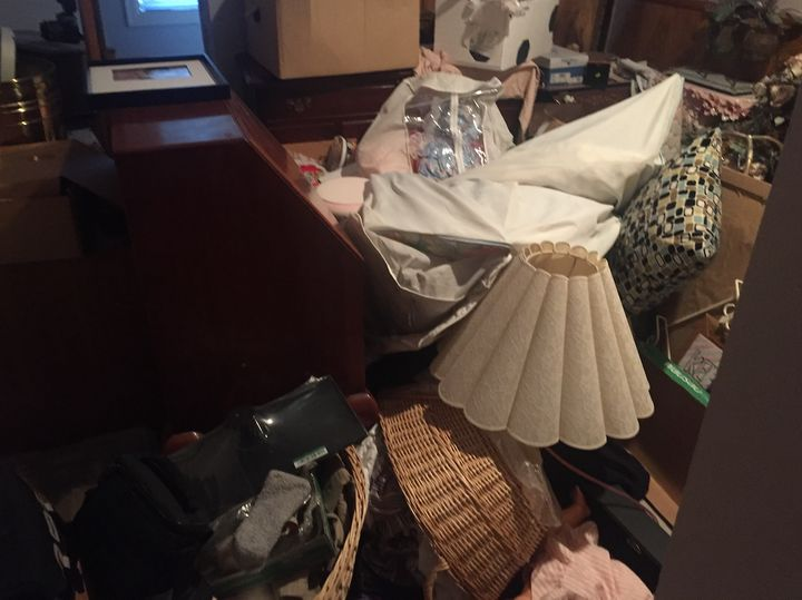 A photo of a cluttered house I visited in 2017. I saw these often. Excessive clutter made it extremely difficult to take meas
