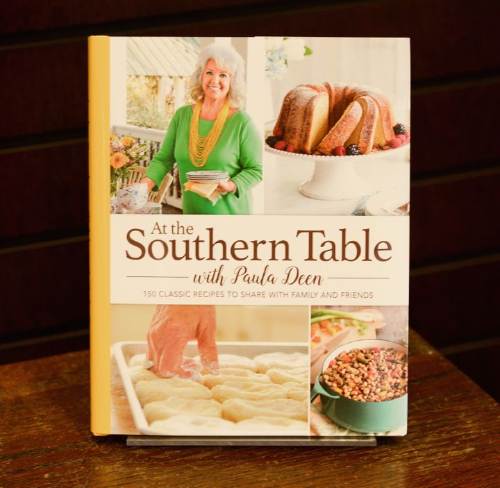 "View of Paula Deen's book ""At The Southern Table"" at Barnes & Noble in Los Angeles in 2017."