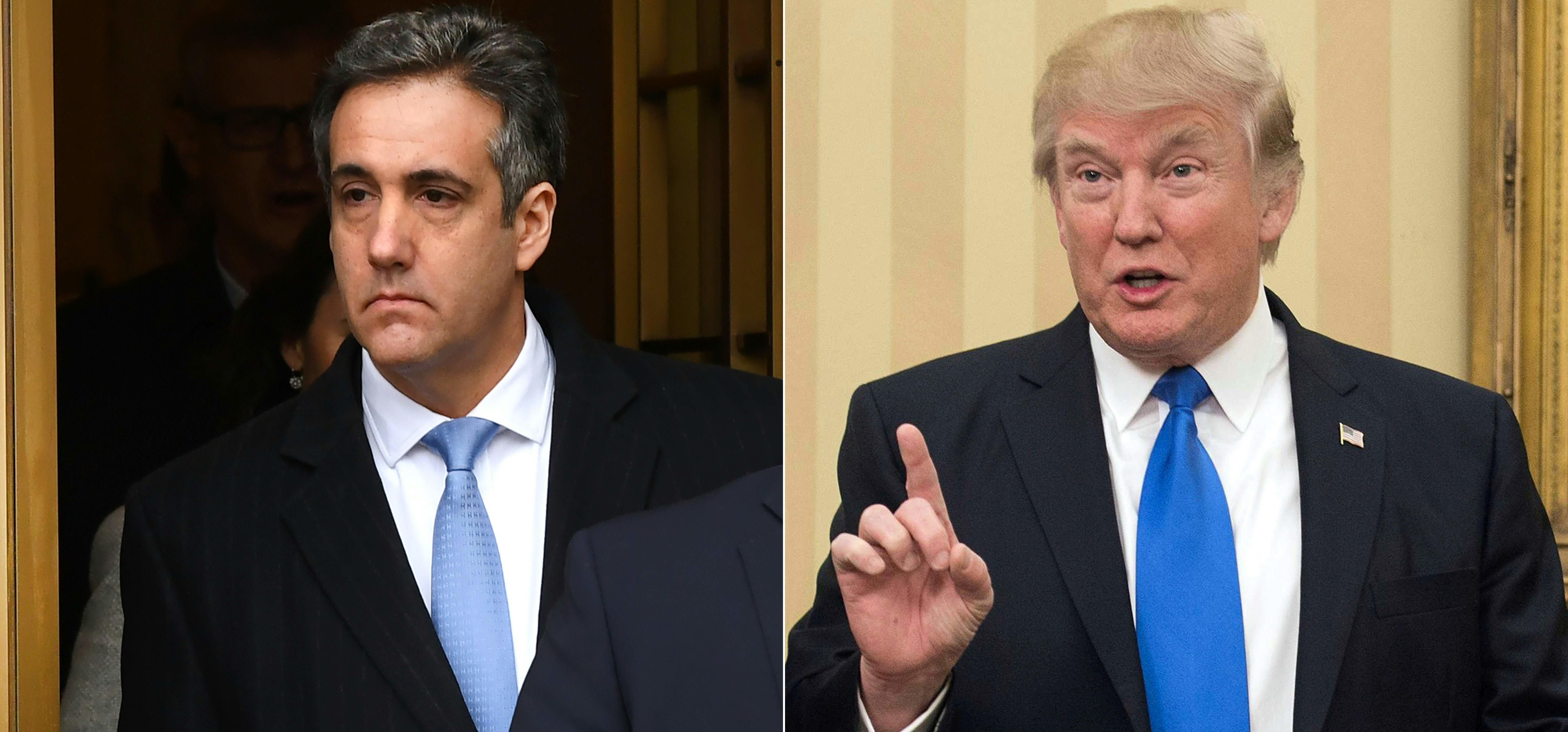 トランプ大統領とトランプ大統領の元顧問弁護士マイケル・コーエン氏