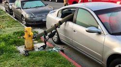 駐車禁止には理由がある。 消火栓の前に駐車したら大変なことになった。【画像あり】