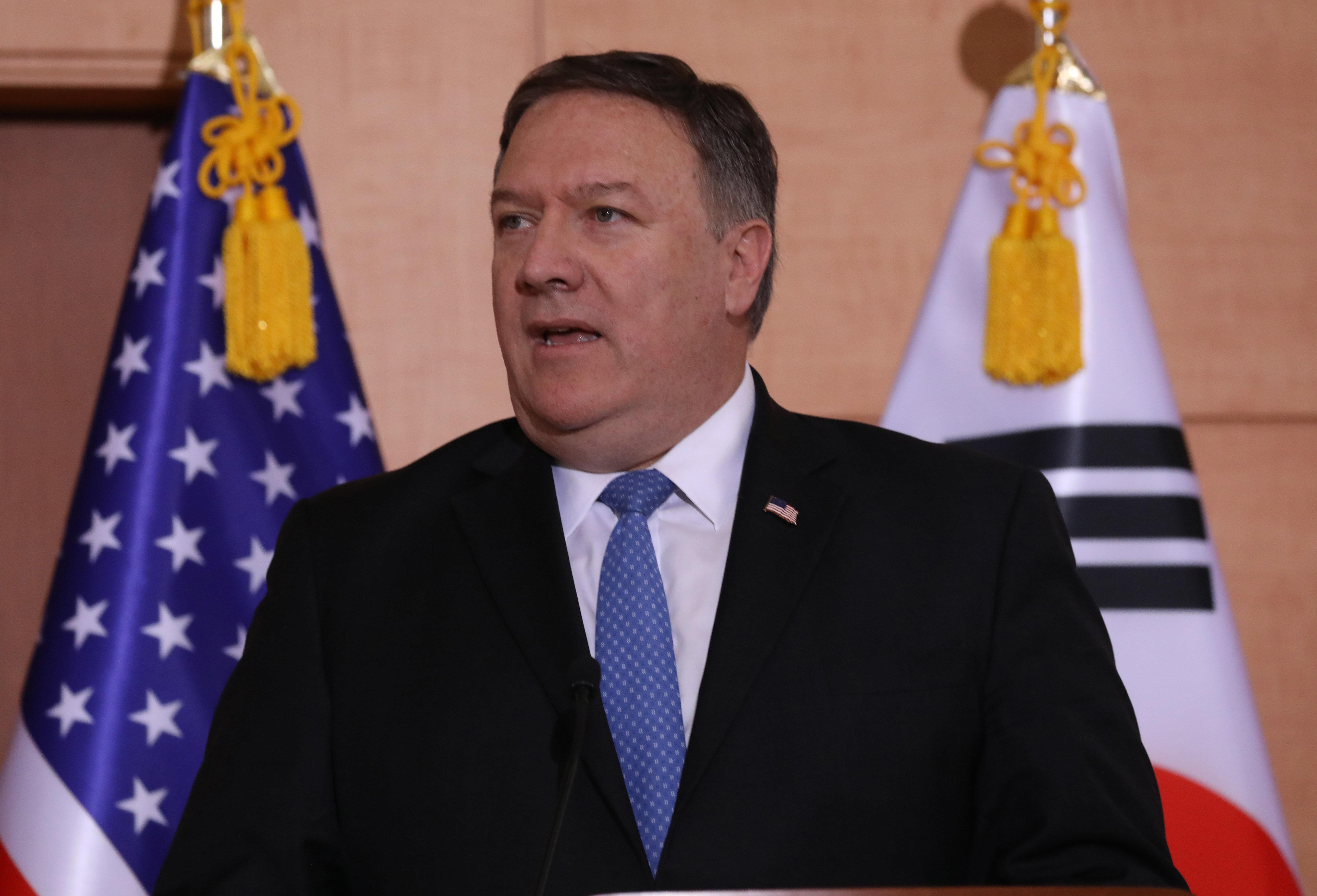 폼페이오 미국 국무장관이 리용호 북한 외무상의 주장을