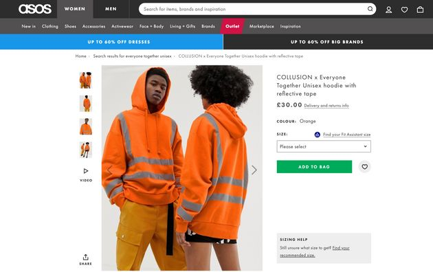 b703e47a0dc Asos Is Selling A £30 Hoodie That Looks Like Safety Gear | HuffPost UK