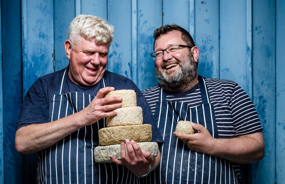 Owners of Wildes CheesePhilip Wilton (right) and Keith