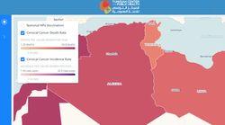 Cette carte interactive montre un taux alarmant de cancer du col de l'utérus dans la région