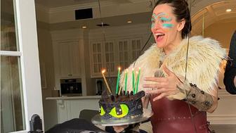 Jennifer Garner joked about embarrassing her son at his birthday party by dressing up.