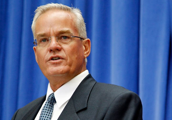 Bill Hybels, then senior pastor of Willow Creek Community Church, speaks in Washington in July 2010.