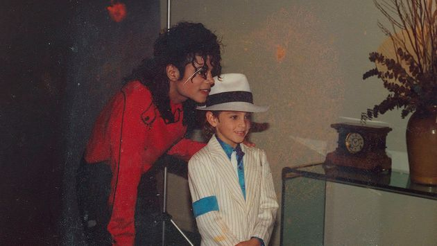 Michael Jackson and a young Wade Robson, who has accused the singer of sexual