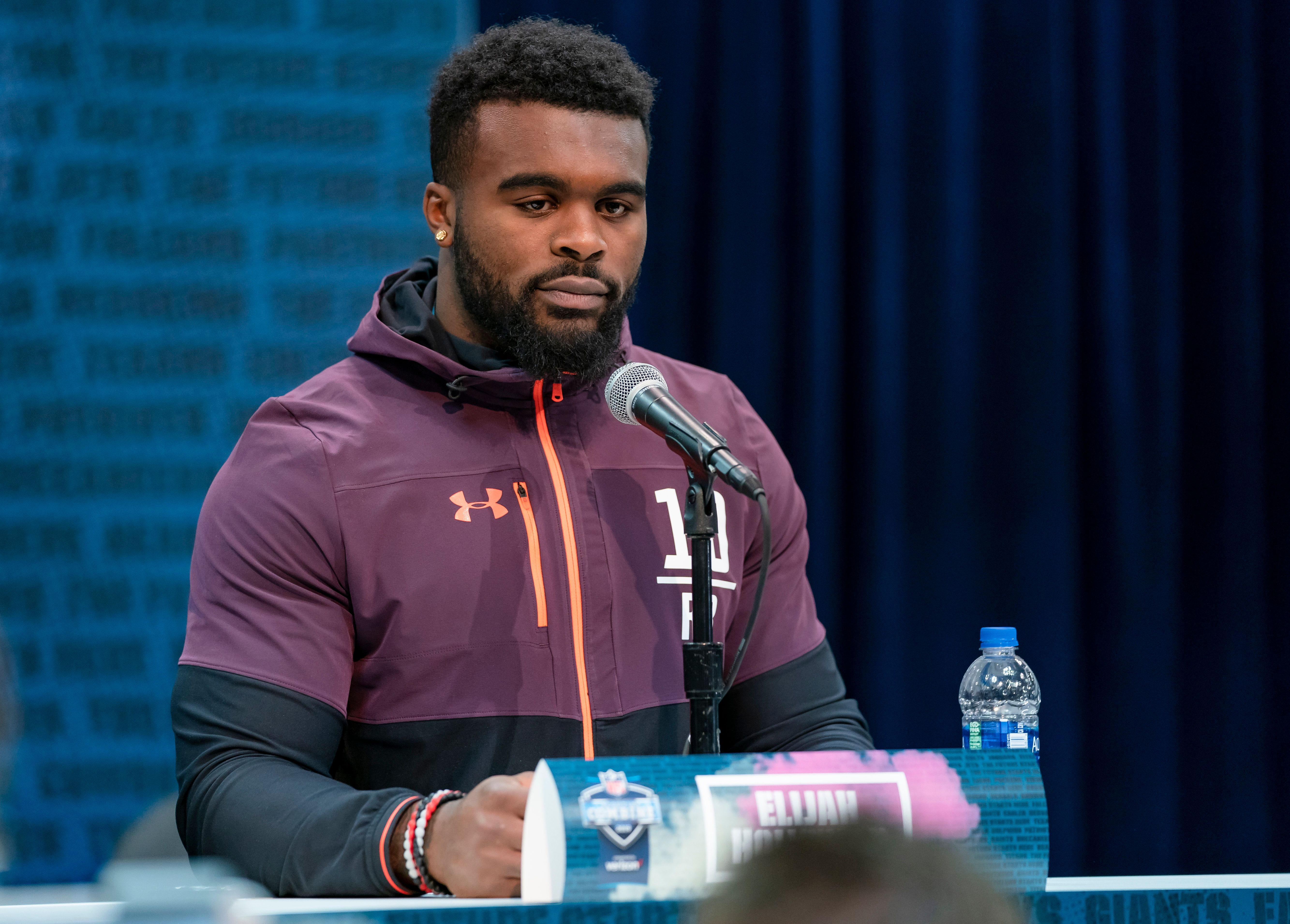 Elijah Holyfield raised more questions than answers with his 40-yard dash time at the combine. (Getty)
