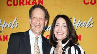 SAN FRANCISCO, CA - APRIL 18:  San Francisco Giants CEO Larry Baer poses for photos with his wife Pamela on the red carpet for the Pre-Broadway Opening Engagement Of 'Head Over Heels' at the Curran Theatre on April 18, 2018 in San Francisco, California.  (Photo by Kelly Sullivan/Getty Images)