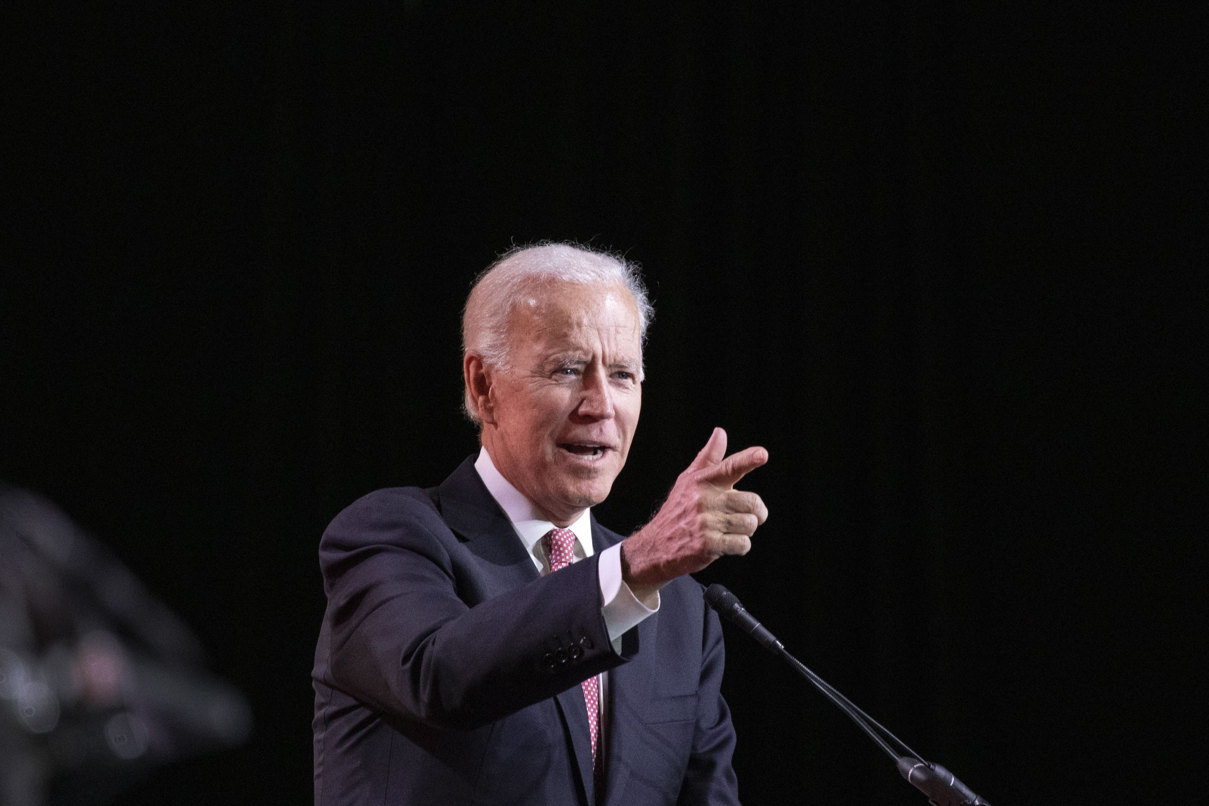 Former U.S. Vice President Joe Biden speaks during the U.S. Conference of Mayors (USCM) Annual Winter Meeting in Washington, D.C., U.S., on Thursday Jan. 24, 2019. During the meeting, mayors from both sides of the aisle, from cities rural, urban and suburban, attend sessions on a range of priorities, including infrastructure, immigration, opportunity zones, climate, automation and the economic future of cities. Photographer: Alex Wroblewski/Bloomberg via Getty Images