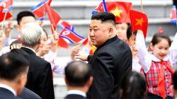 김정은이 베트남 방문일정을 마치고 북한으로