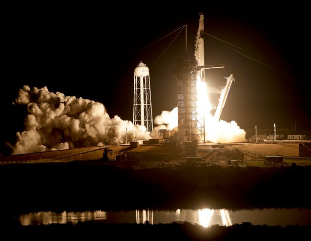 SpaceX: America's Newest Crew Capsule Rockets Towards Space