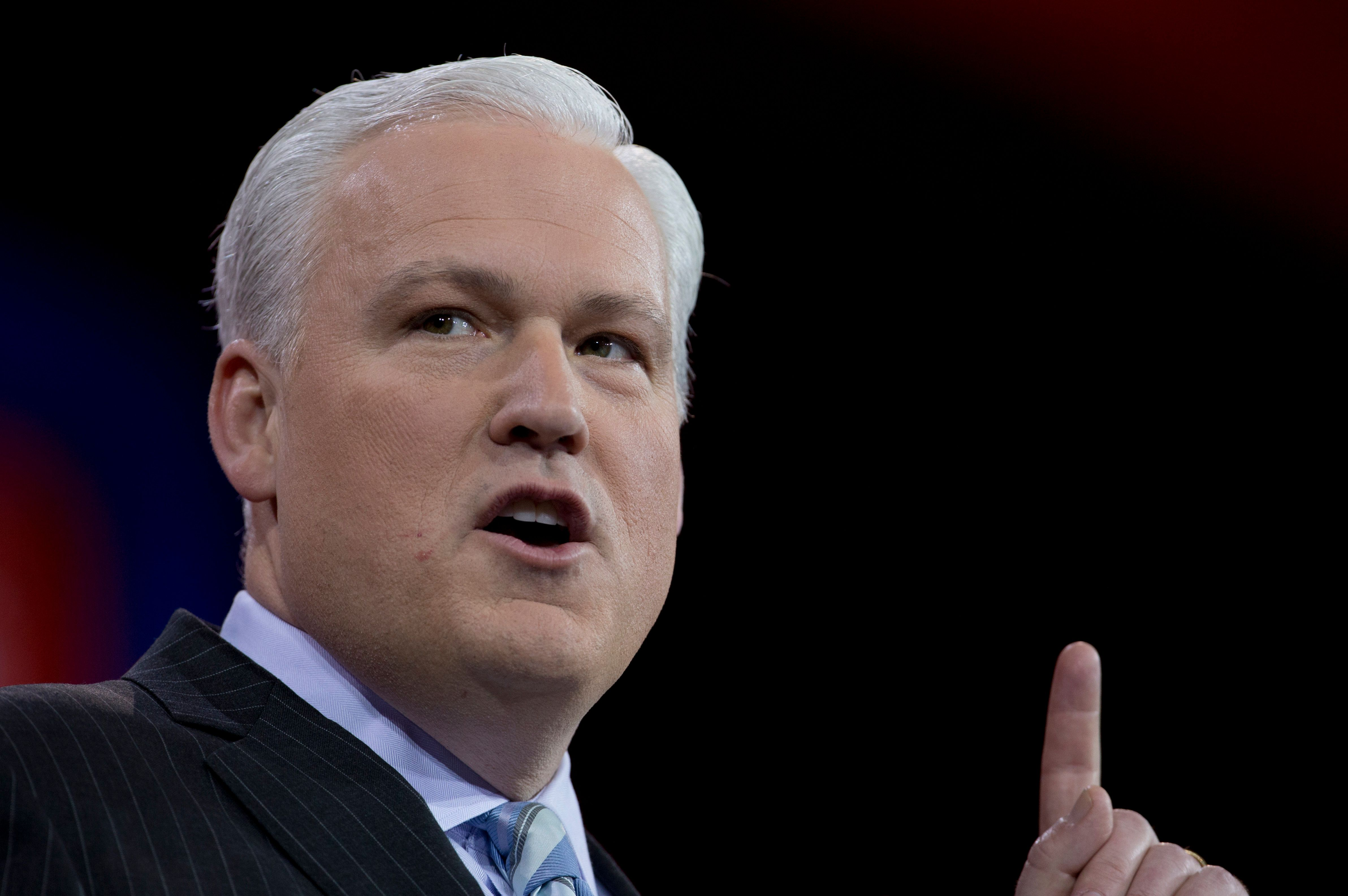 American Conservative Union Chairman Matt Schlapp speaks during the Conservative Political Action Conference (CPAC) in National Harbor, Md., Friday, Feb. 27, 2015. (AP Photo/Carolyn Kaster)