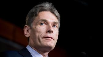 UNITED STATES - JANUARY 22: Rep. Tom Malinowski, D-N.J., participates in the House Democrats' news conference on the NATO Support Act before its consideration on the House floor on Tuesday, Jan. 22, 2019. (Photo By Bill Clark/CQ Roll Call)
