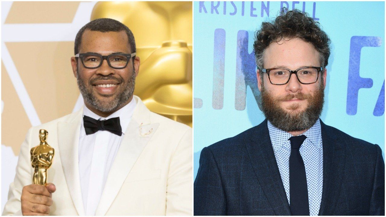 Jordan Peele, Seth Rogen (Getty Images).