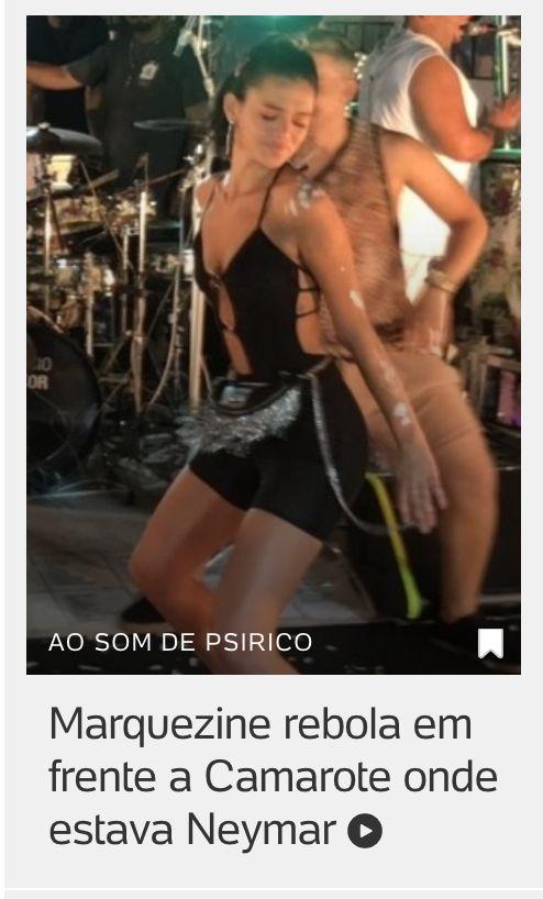 Site relaciona rebolado de Bruna Marquezine a seu antigo relacionamento com Neymar.