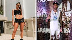 Bruna Marquezine e Neymar, jovens, solteiros e no Carnaval.