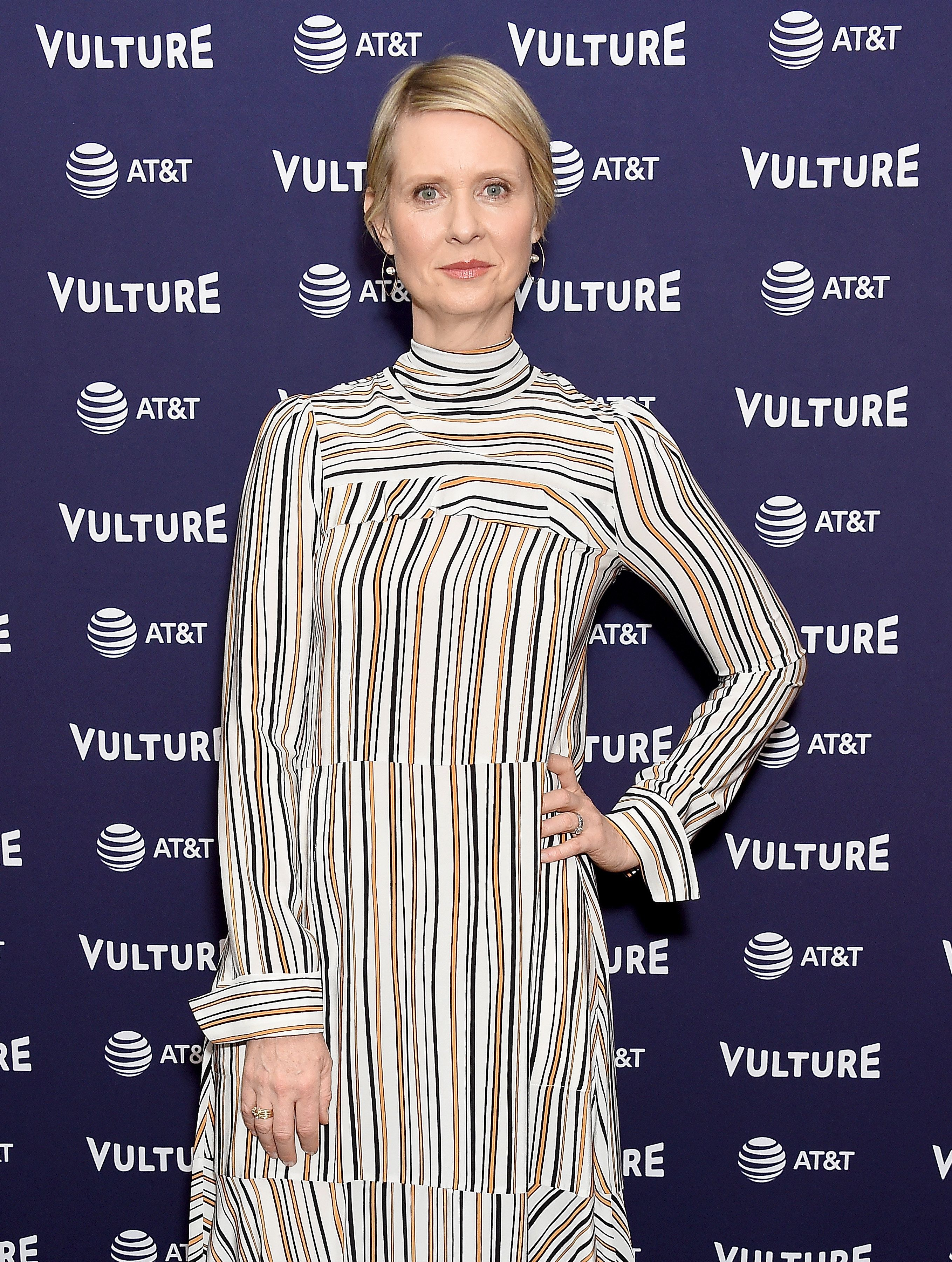 LOS ANGELES, CA - NOVEMBER 18:  Cynthia Nixon attends Vulture Festival Los Angeles 2018 at The Hollywood Roosevelt Hotel on November 18, 2018 in Los Angeles, California.  (Photo by Gregg DeGuire/Getty Images)