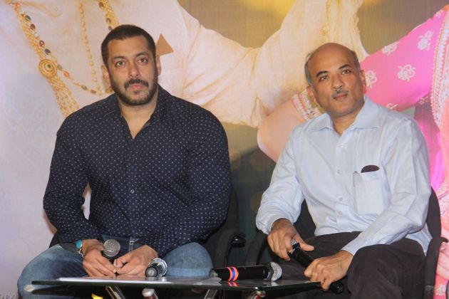 Bollywood actor Salman Khan with Sooraj Barjatya in a file