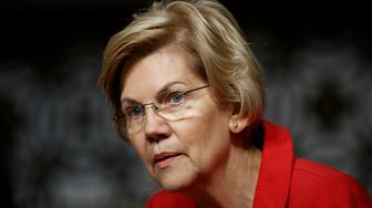 """File-This Feb. 29, 2019, file photo shows Senate Armed Services Committee member, Sen. Elizabeth Warren, D-Mass., during a Senate Armed Services Committee hearing on """"Nuclear Policy and Posture"""" on Capitol Hill in Washington. Sen. Warren, who is seeking the Democratic nomination for president in 2020, did not call for the minimum wage to be $22 an hour, as posts circulating on social media suggest. However, she did discuss the findings of a study that showed if minimum wage had been tied to productivity between 1960 and 2013, it would be $22 an hour, during a March 2013 Senate Committee on Health, Education, Labor and Pensions hearing. (AP Photo/Carolyn Kaster, File)"""