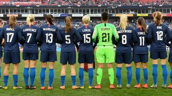 Each one of the U.S. players wore the names of the women who inspired them on the back of their jerseys. Some of the names included Jennifer Lawrence and Malala Yousafza.