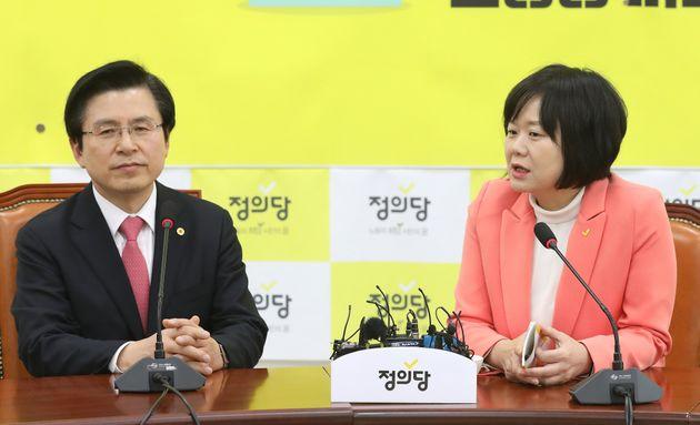 황교안 자유한국당 대표가 정의당 찾아가 꺼낸 첫