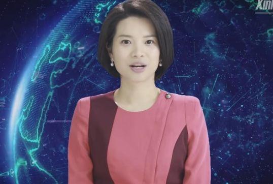 新華社と検索サイトの捜狗が開発したAI合成女性アナウンサーの新小萌