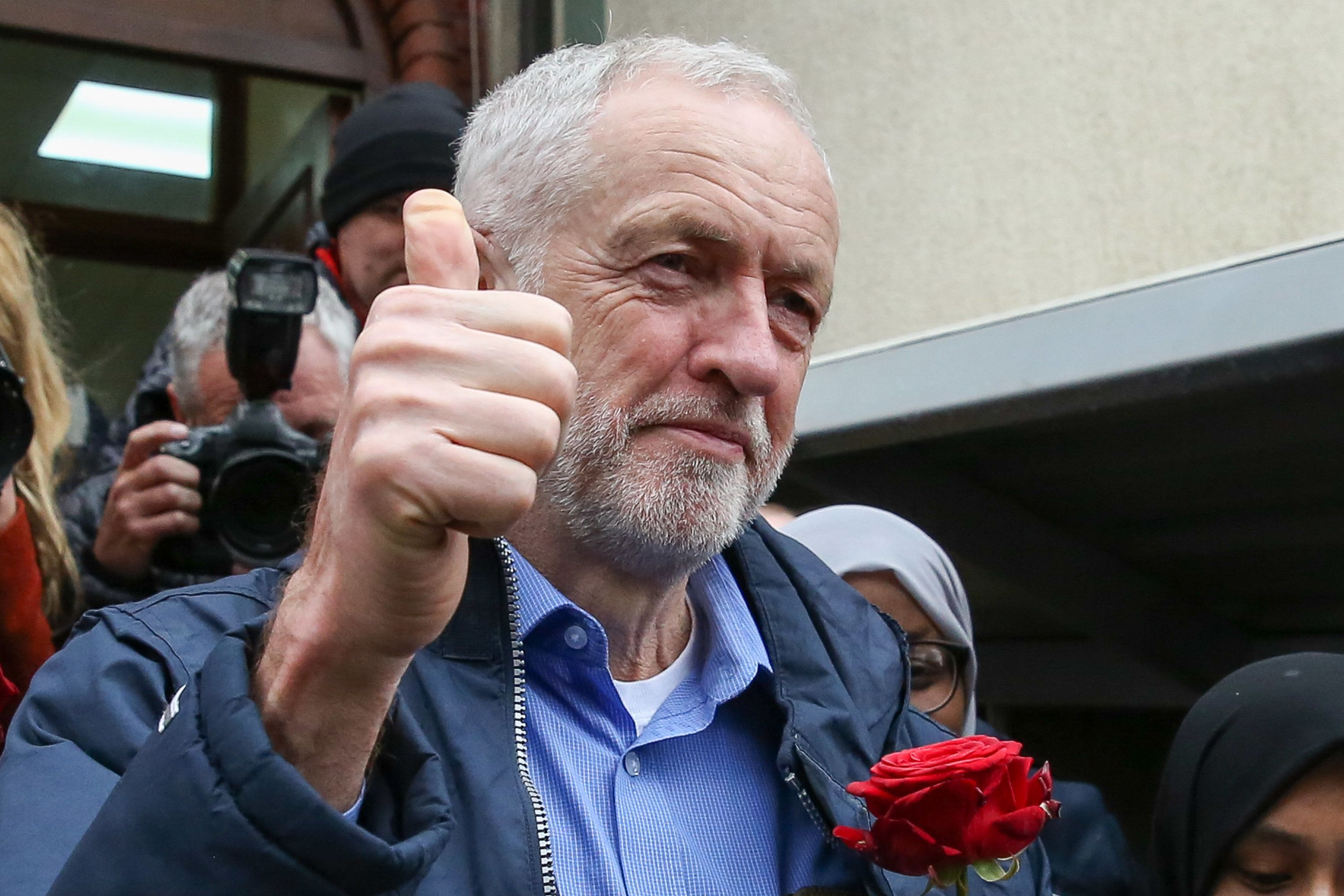 Jeremy Corbyn egged as he visits Finsbury Park Mosque