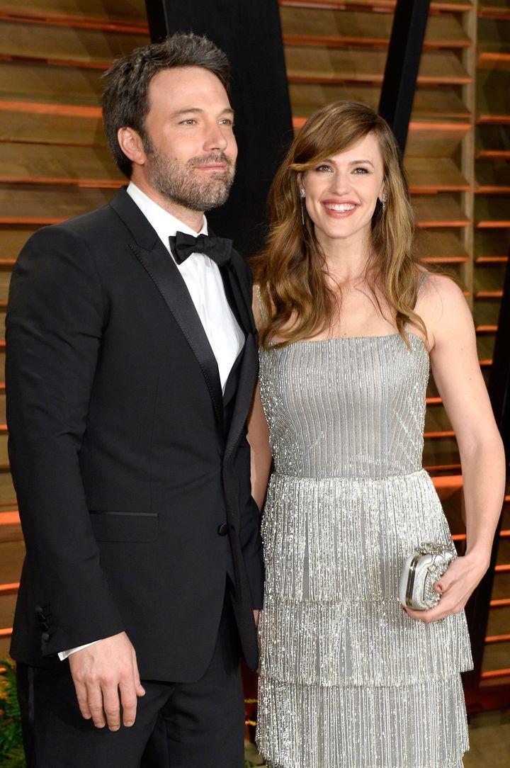 Ben Affleck and Jennifer Garner attend the 2014 Vanity Fair Oscars after party.