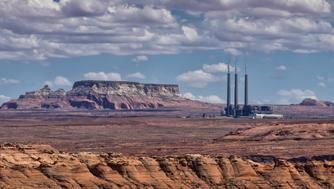 Navajo Generating Station coal-fired steam plant near Page, Arizona