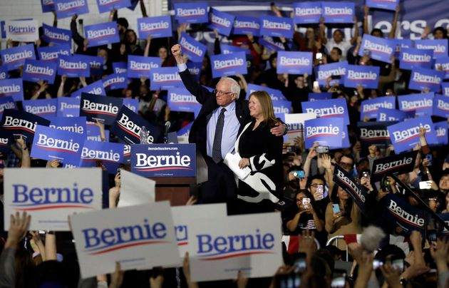 Sanders was joined by his wife, Jane O'Meara Sanders, in Chicago, on