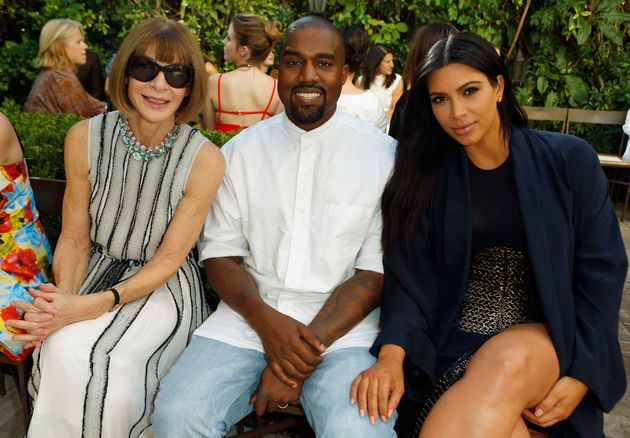Anna Wintour, Kanye West and Kim Kardashian attend CFDA/Vogue Fashion Fund Show and Tea at Chateau Marmont...