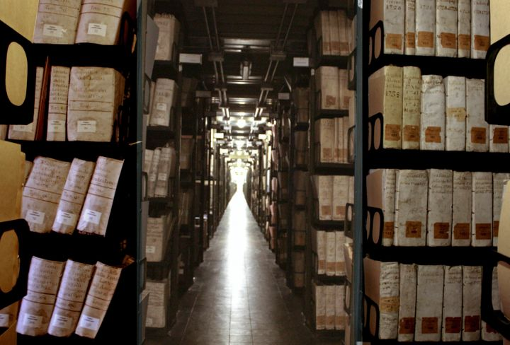 The storehouse of the Vatican Secret Archives, in a photo distributed by the Vatican on Feb. 29, 2012.Pope Francis anno
