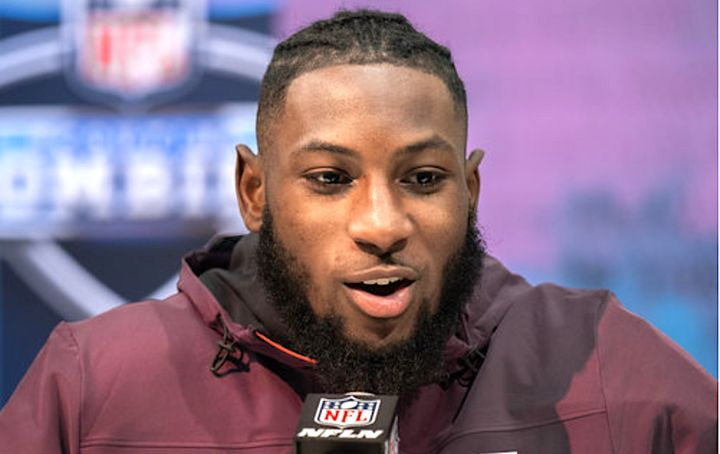 Kris Boyd, pictured at the NFL Scouting Combine, apparently became one of the many athletes over the years to be asked an ove